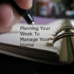Week At A Glance:  Menu's, House, Homeschool and Kids