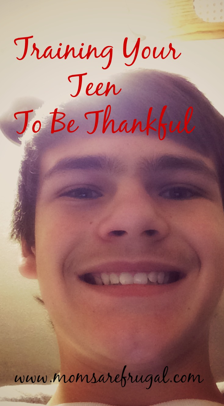 Training Your Teen To Be Thankful